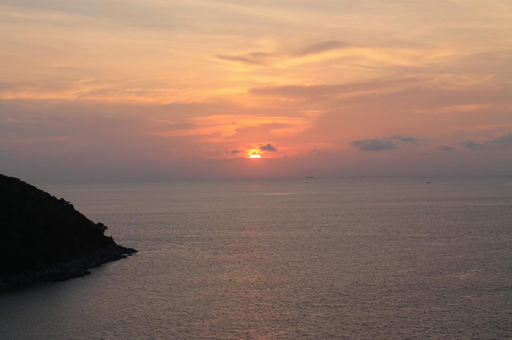 Phuket Thailand Nai Harn Beach Sunset