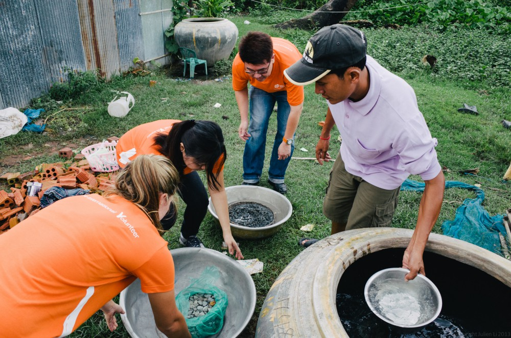 Volunteer in Asia Cambodia Siem Reap Water for Life Step 2