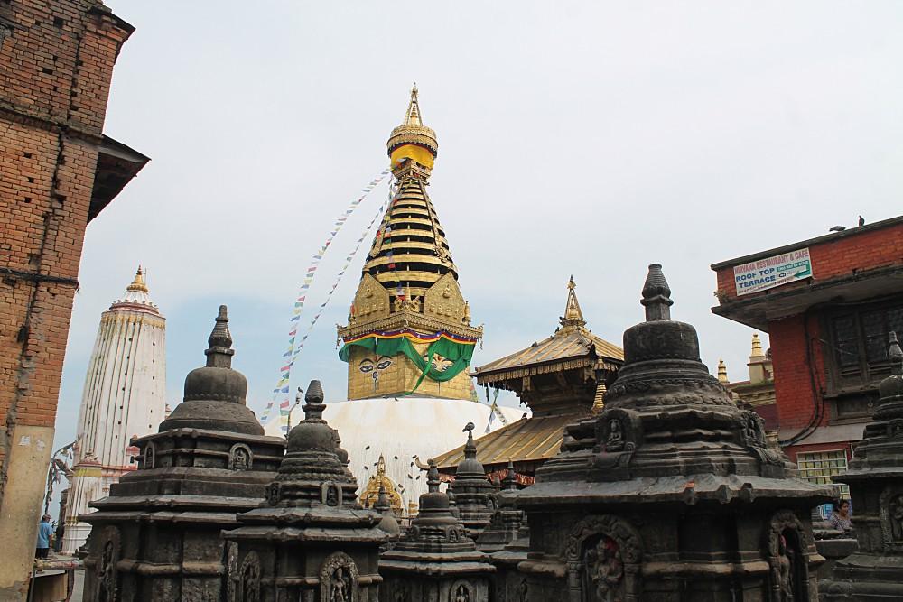 Kathmandu Nepal - Monkey Temple Buddha Eyes
