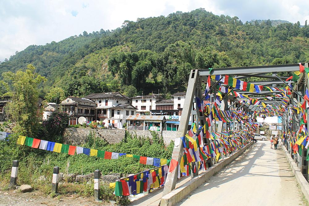 Ghorepani Poonhill Ghandruk Himalayas Trek Nepal - Birethanti Bridge