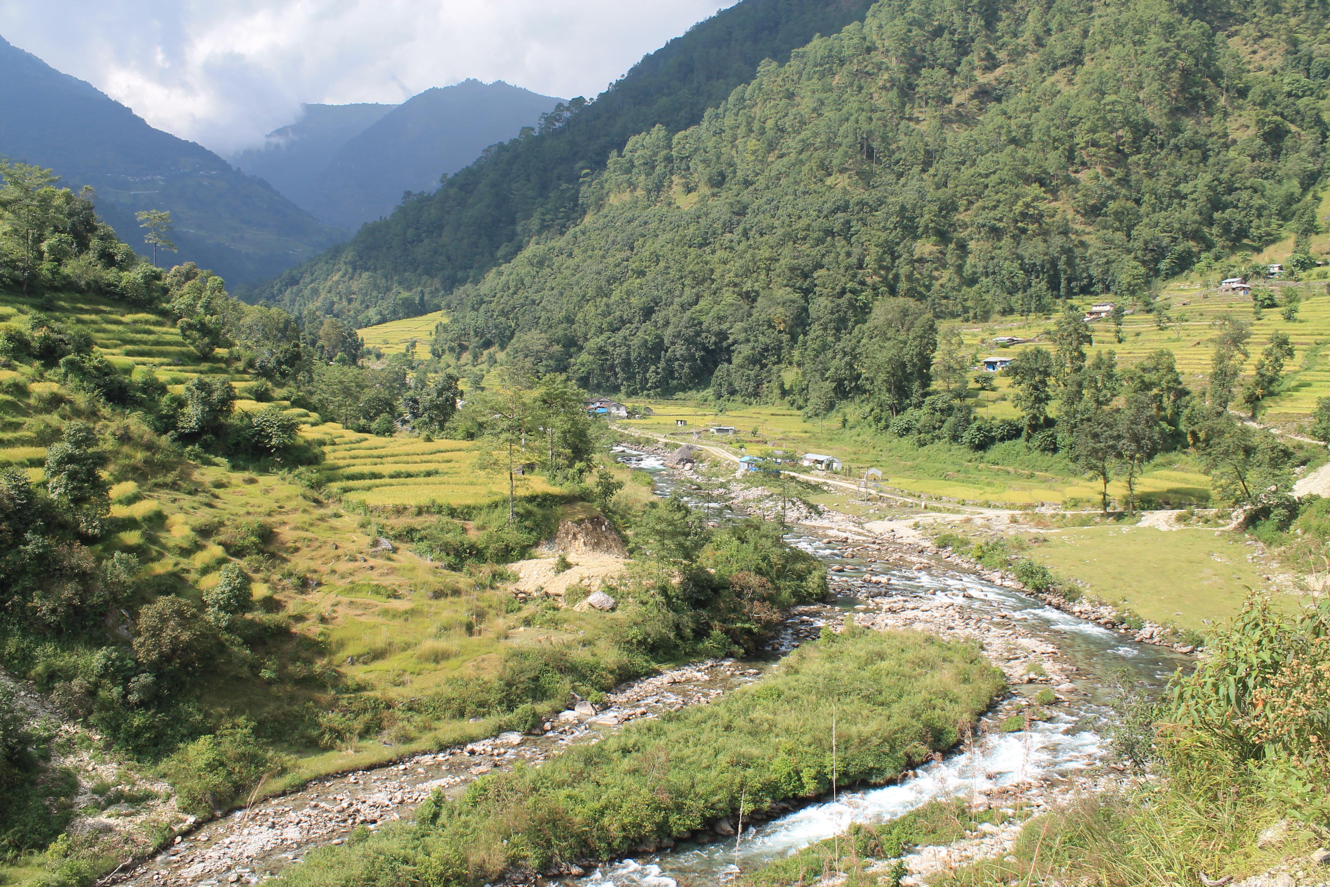 Ghorepani Poonhill Ghandruk Himalayas Trek Nepal - River View