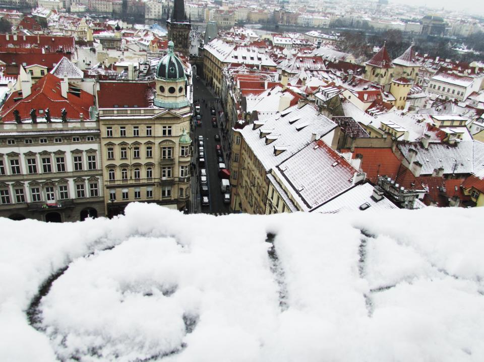 Prague Beautiful City in Czech Republic Snow