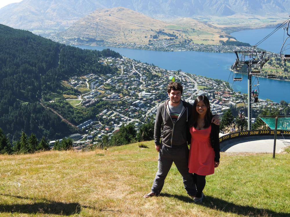Romantic Journey around the World - Couple Travel - Queenstown New Zealand Skyline Gondola