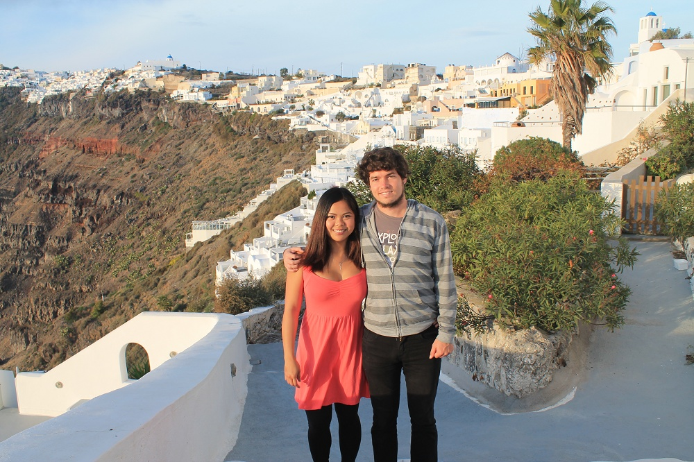 Romantic Journey around the World - Couple Travel - Santorini Greece Couple