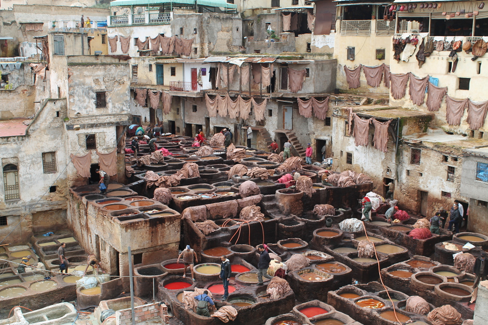 Best Medinas in Morocco - Fez Tannery