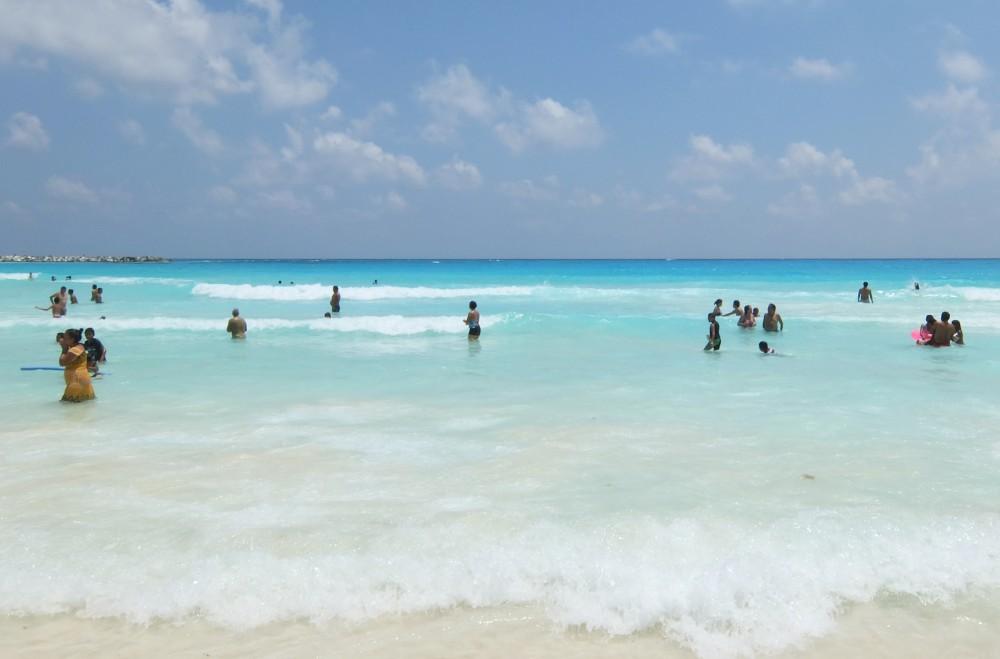 Mexico Caribbean Beach Cancun Water