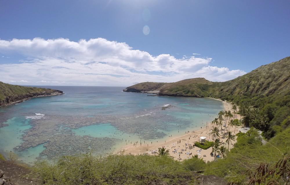 Backpacking Oahu Hawaii - Hanauma Bay - Crater Beach