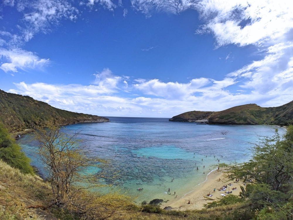 Backpacking Oahu Hawaii - Hanauma Bay - View