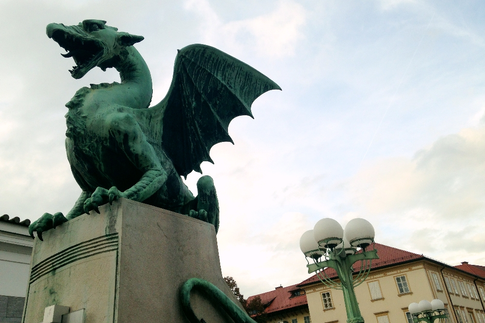 A Fairy Tale in Europe, One Week in Slovenia - Dragon Bridge, Ljubljana