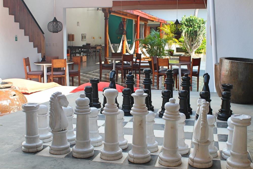 Los Patios Boutique Hotel Granada Nicaragua - Review - Giant Chessboard