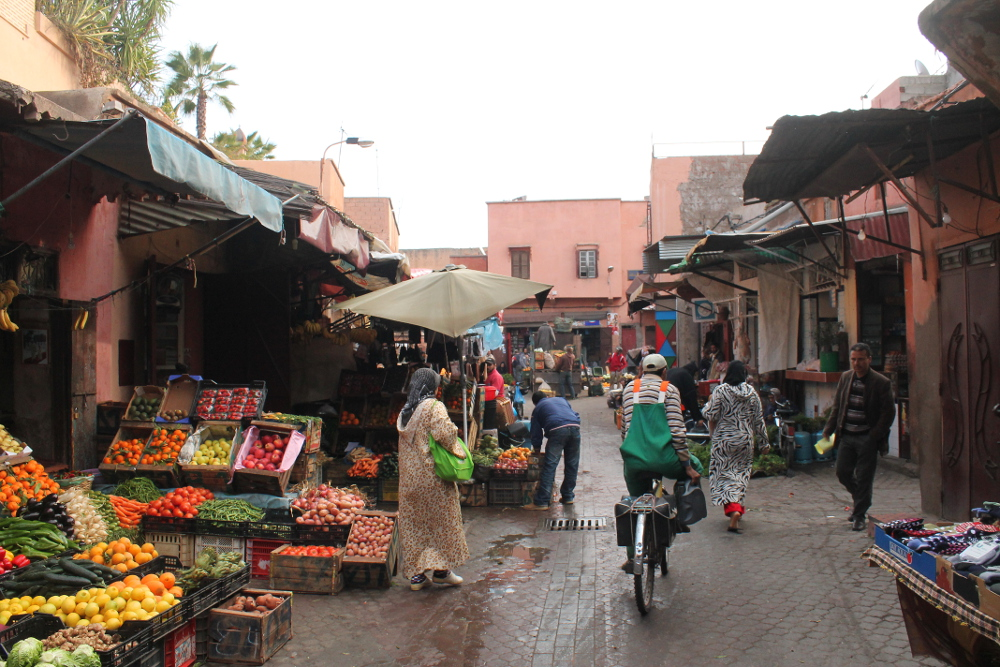 Marrakech Morocco - Gateway to Sahara Desert - Souk Market