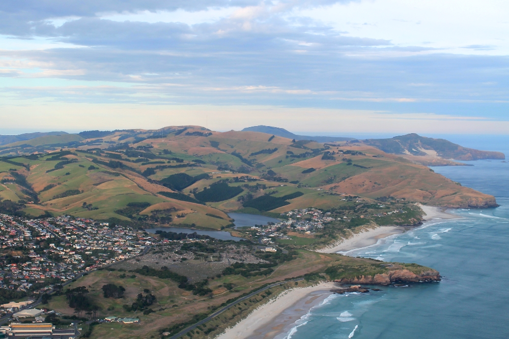Two Seater Plane Scenic Flight Dunedin New Zealand - Scenery from Above