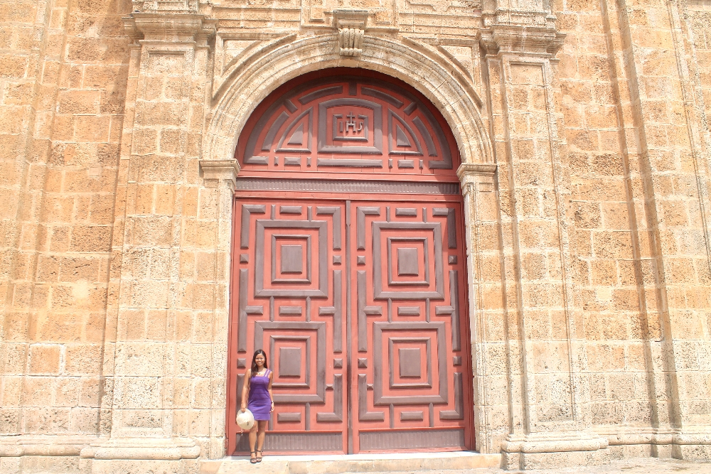 Cartagena Colonial Walled City Colombia - San Pedro Claver Church Door