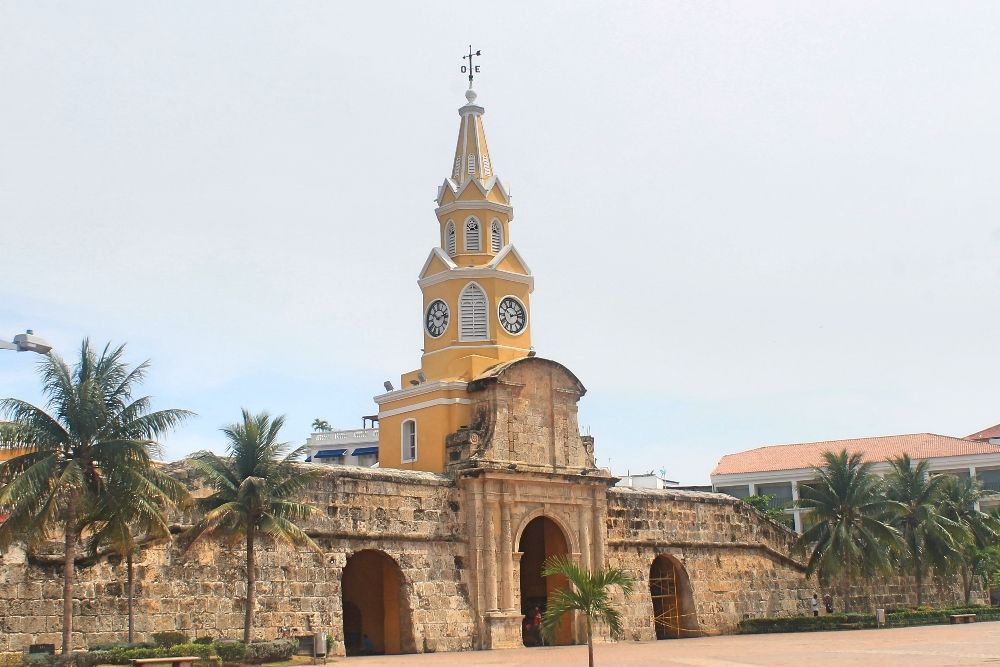 Cartagena Colonial Walled City Colombia - Torre de Reloj Clock Tower