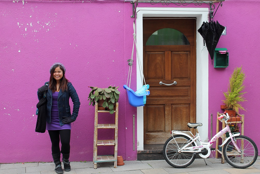 Venice Romantic City Italy Love - Couple Travel - Burano Purple House
