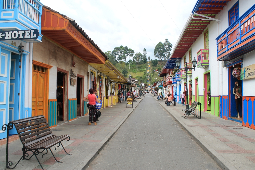 The colourful town of Salento - the best place to do a coffee tour in Colombia