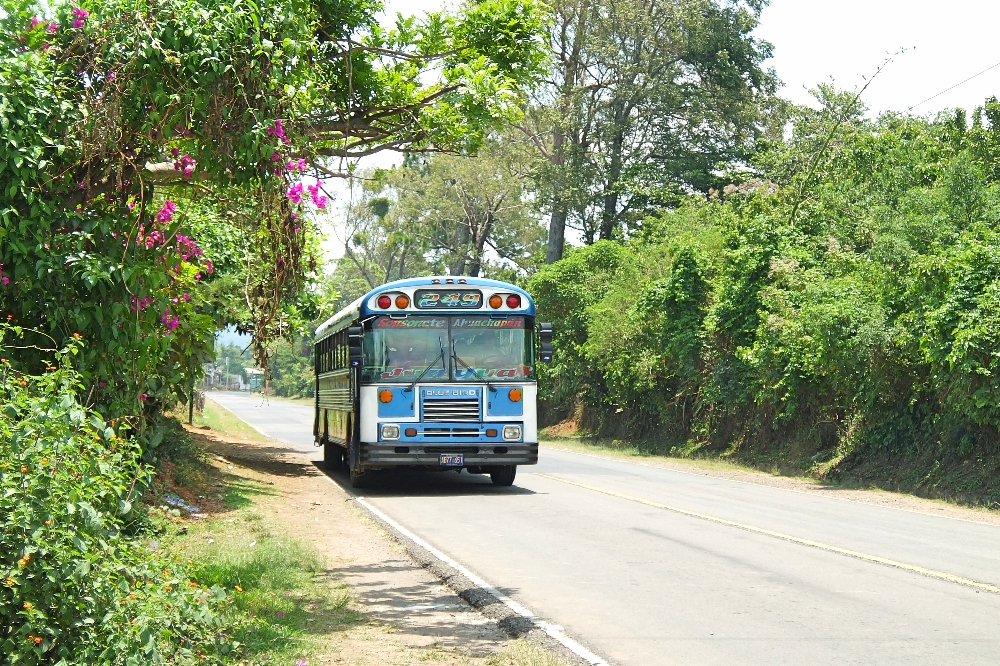 Female Travel Story - Backpacking Women - Chicken Bus El Salvador