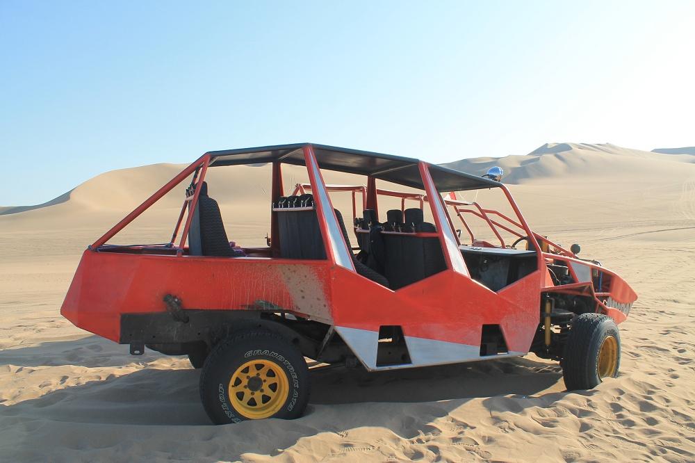 Dune Buggy Ride Sandboarding Huacachina Desert Oasis Peru - Car