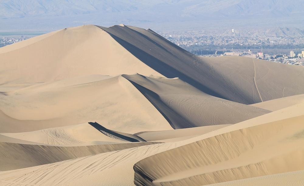 Dune Buggy Ride Sandboarding Huacachina Desert Oasis Peru - Sand Dunes