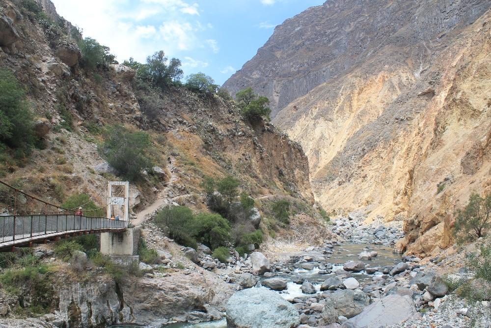 2 Days Colca Canyon Trek - Peru Hike - Bridge