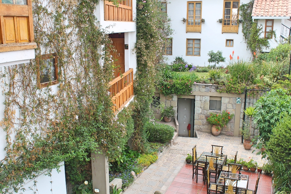 Bed and Breakfast Pension Alemana - Cusco Peru - Hotel Review - Patio Garden