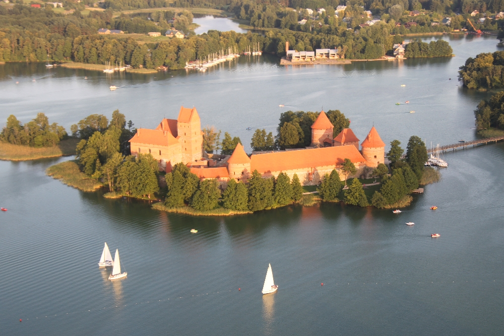 Scenic Flights around the World - Trakai Lithuania