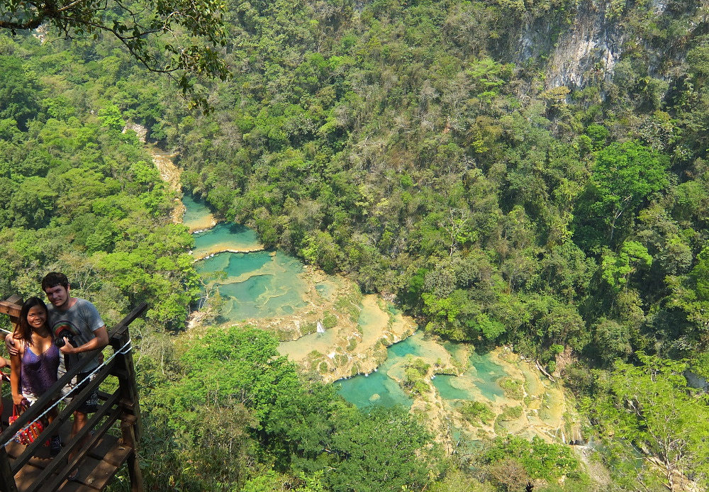 Romantic Journey around the World - Couple Travel - Semuc Champey Guatemala