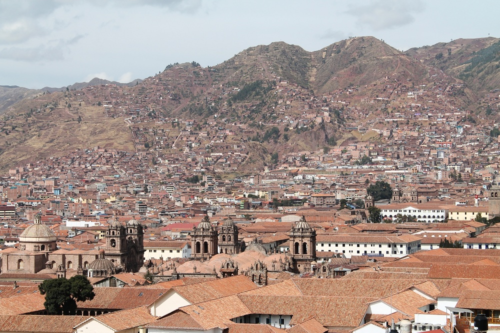 Bed and Breakfast Pension Alemana - Cusco Peru - Hotel Review - View from Cafe