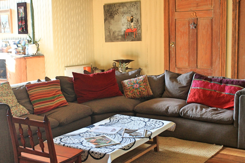 The Guest House - Puerto Varas Chile - Review - Living Room Sofa