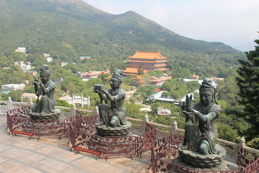 Ngong Ping 360 Lantau Cable Car Hong Kong - Crystal Cabin - Shrine Buddha