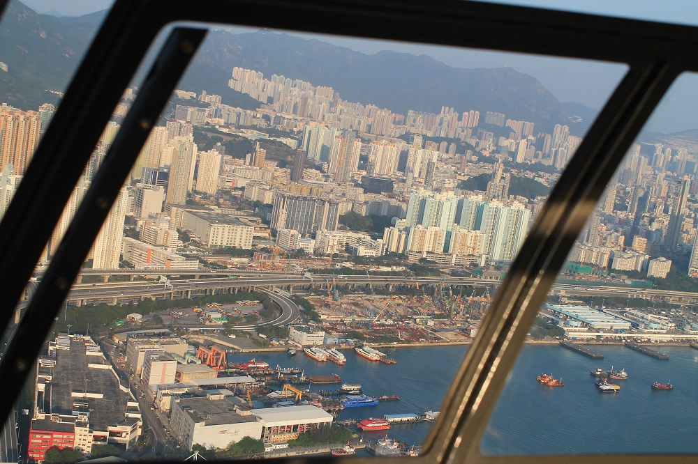 Helicopter Ride Heliservices Hong Kong China - Victoria Harbour