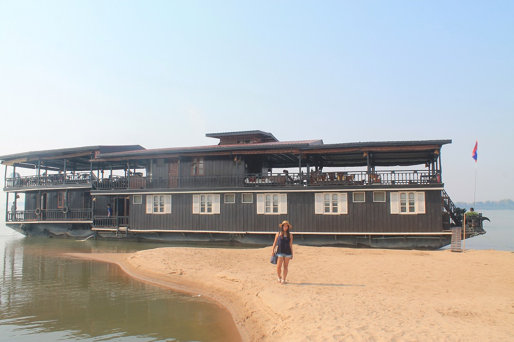 The Vat Phou Cruise Floating Hotel on the Mekong River in Laos - Luxury Floating Hotel