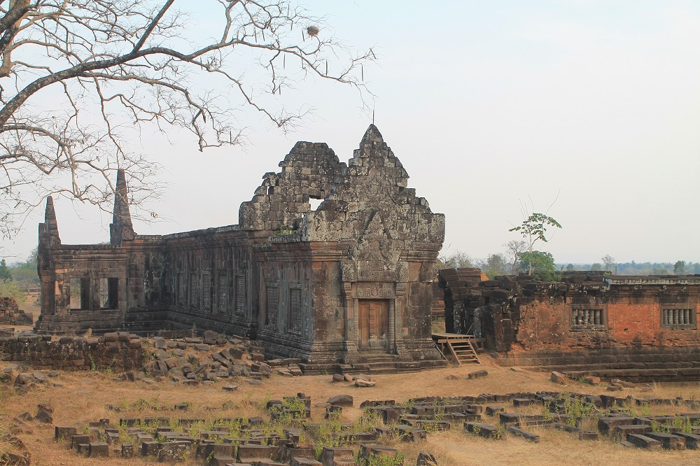 The Vat Phou Cruise Floating Hotel on the Mekong River in Laos - Vat Phou Ruins Temple