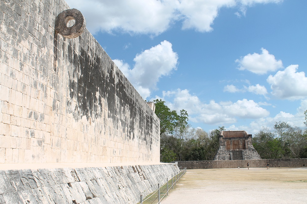 Wonder of the World Chichen Itza Surrounding Structures Ball Court
