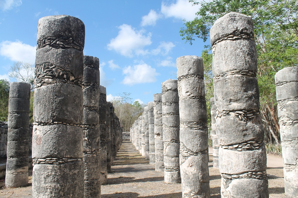 Wonder of the World Chichen Itza Surrounding Structures Columns