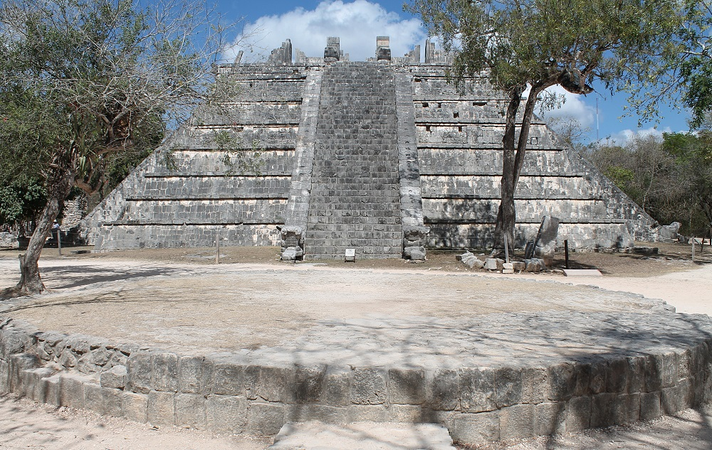 Wonder of the World Chichen Itza Surrounding Structures Ceremonial Pyramid