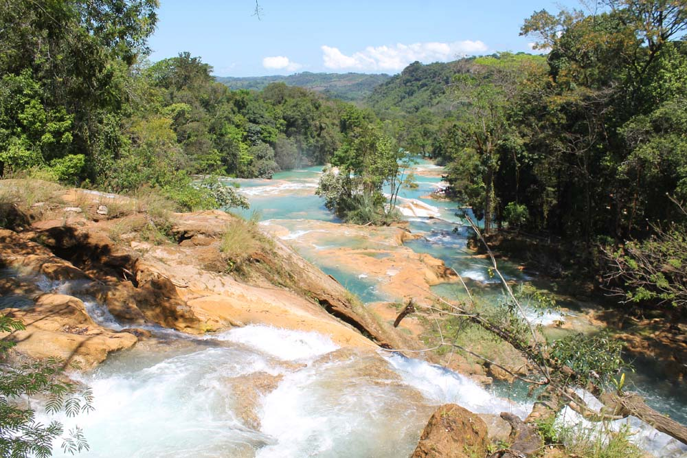 Cascadas de Agua Azul and Palengqui Ruins - Day Tour in Palenque Mexico - Waterfalls Upper Levels