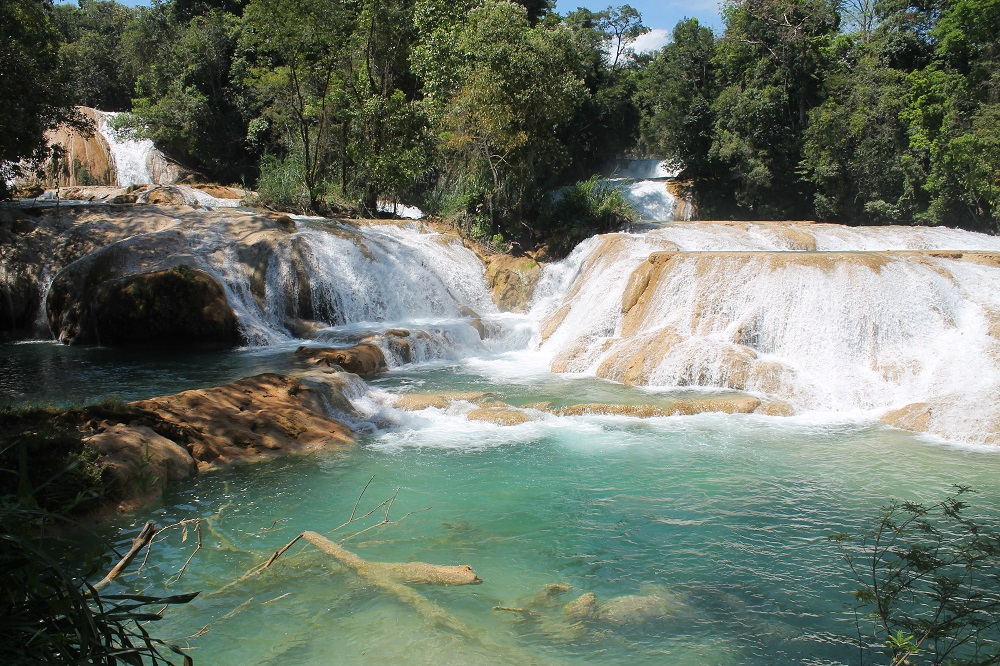 Cascadas de Agua Azul and Palengqui Ruins - Day Tour in Palenque Mexico - Waterfalls