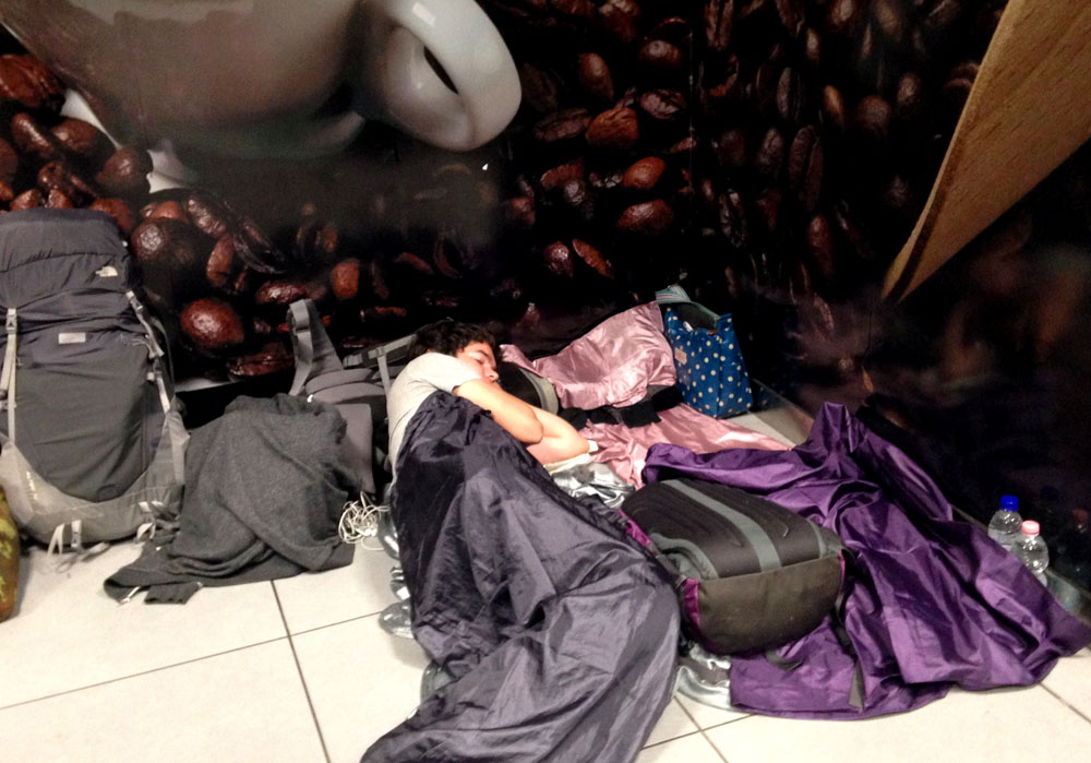Sleeping at Ciampino Airport in Rome - Around the World in 18 Beds