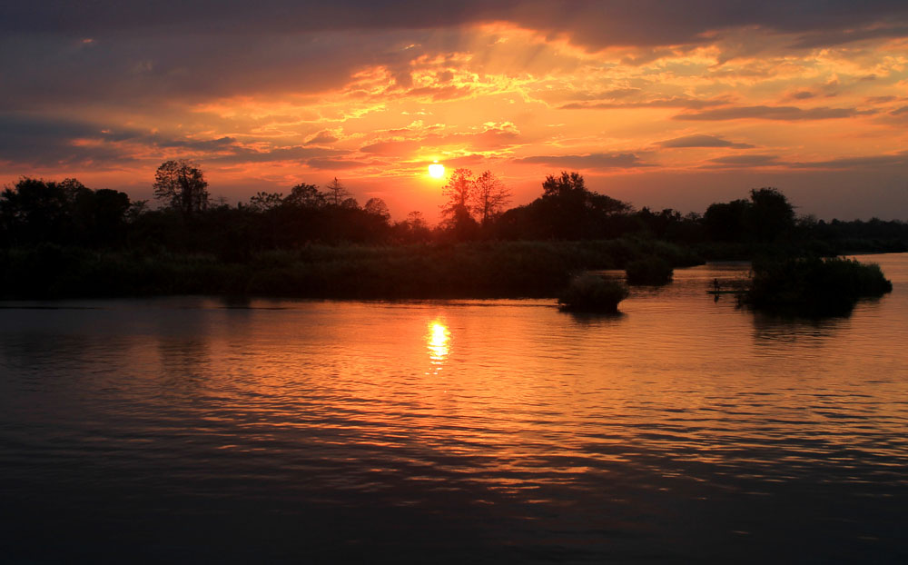 Sunset in Don Det, Laos - Around the World in 18 Beds