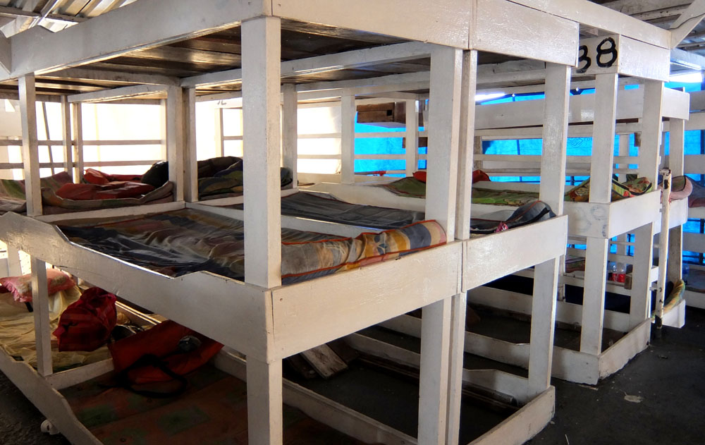 Bunk Bed in a local ferry to the Corn Islands - Around the World in 18 Beds