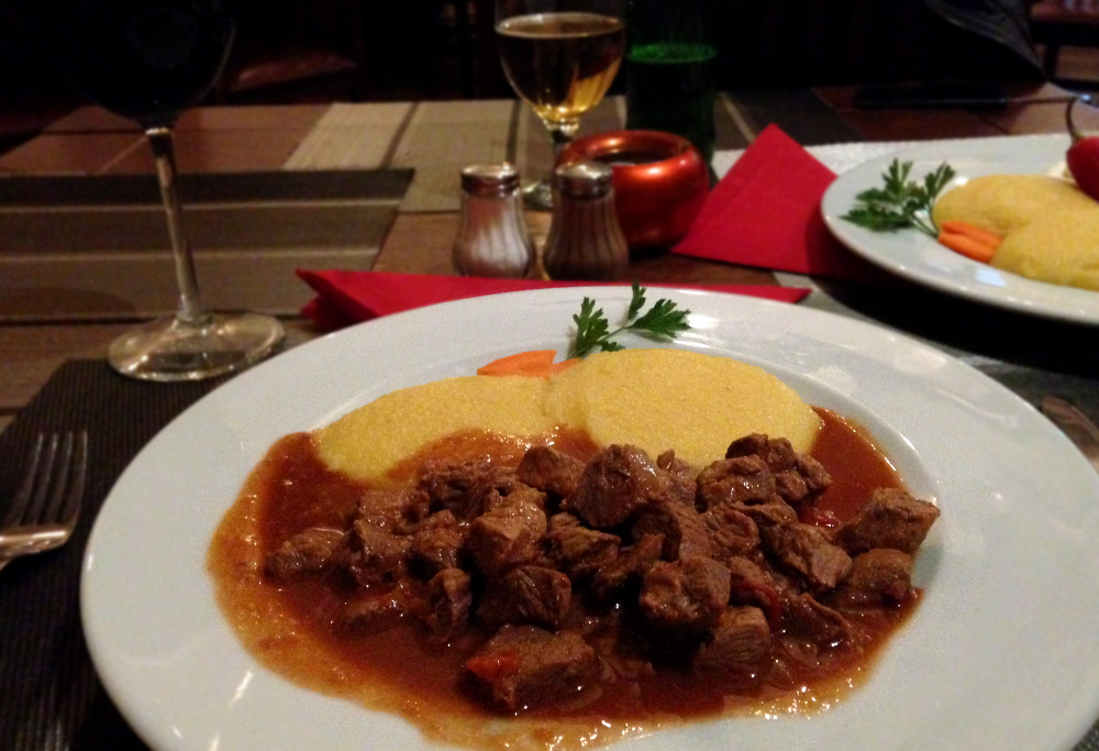 Local Romanian food during our One Week in Transylvania - Mamaliga