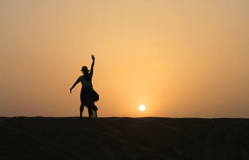 Sunset Silhoutte - Camp Thar - Osian - Desert Sand Dunes