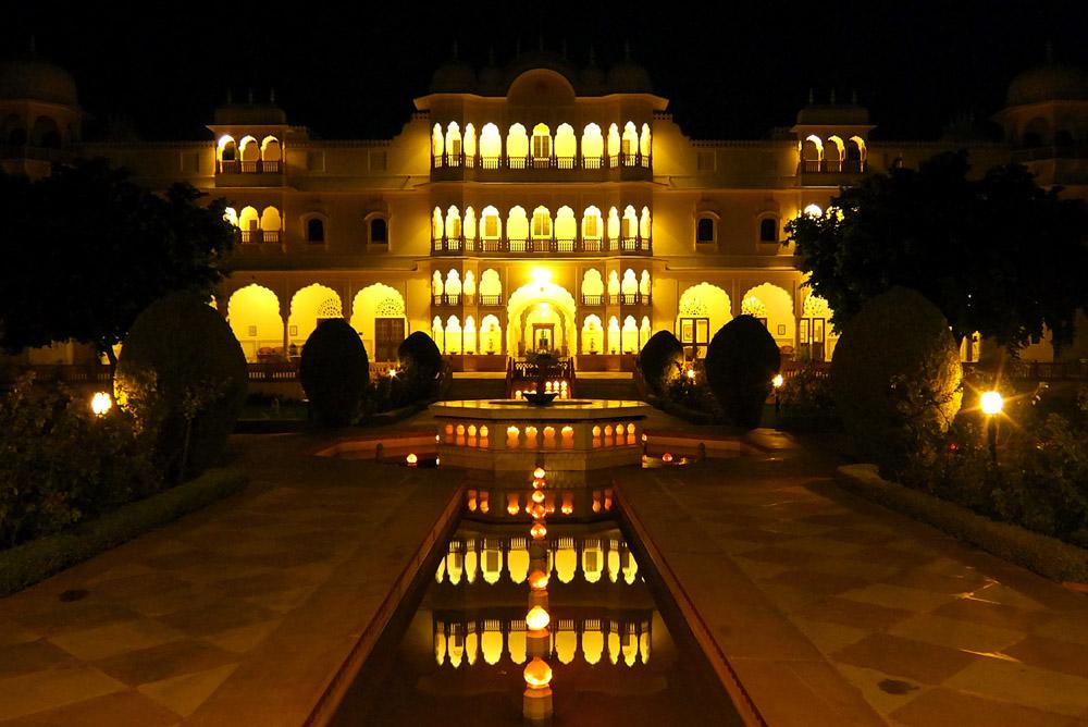 nahargarh-ranthambore-hotel-review-india -night