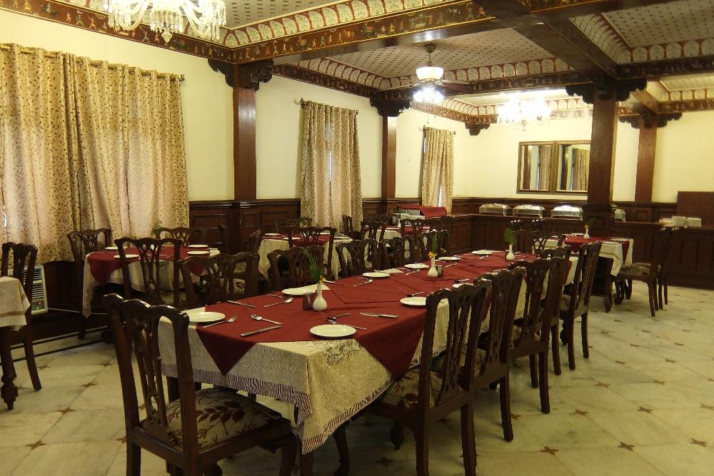 Elegant Restaurant at Amar Mahal Hotel in Orchha
