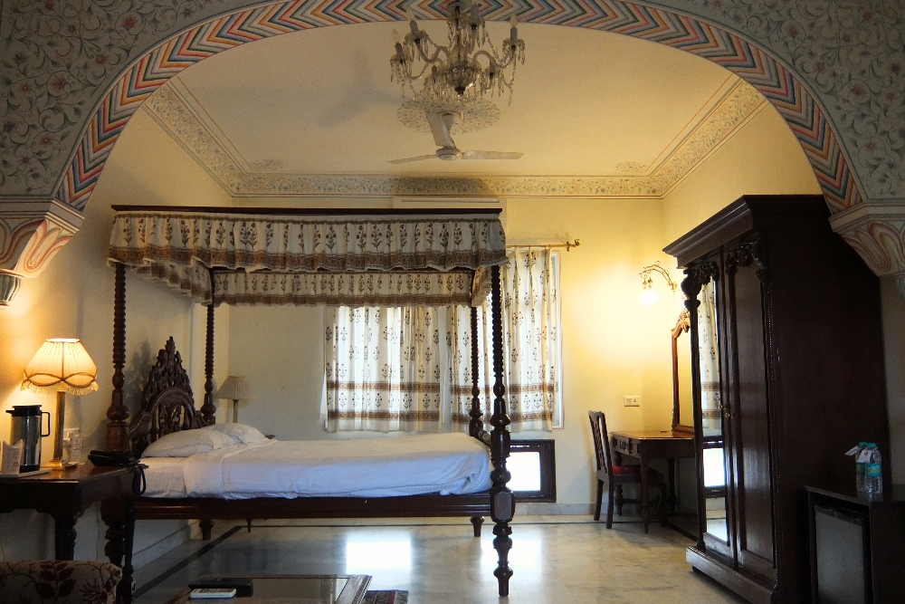 Luxurious Hotel Room of Amar Mahal Hotel in Orchha India