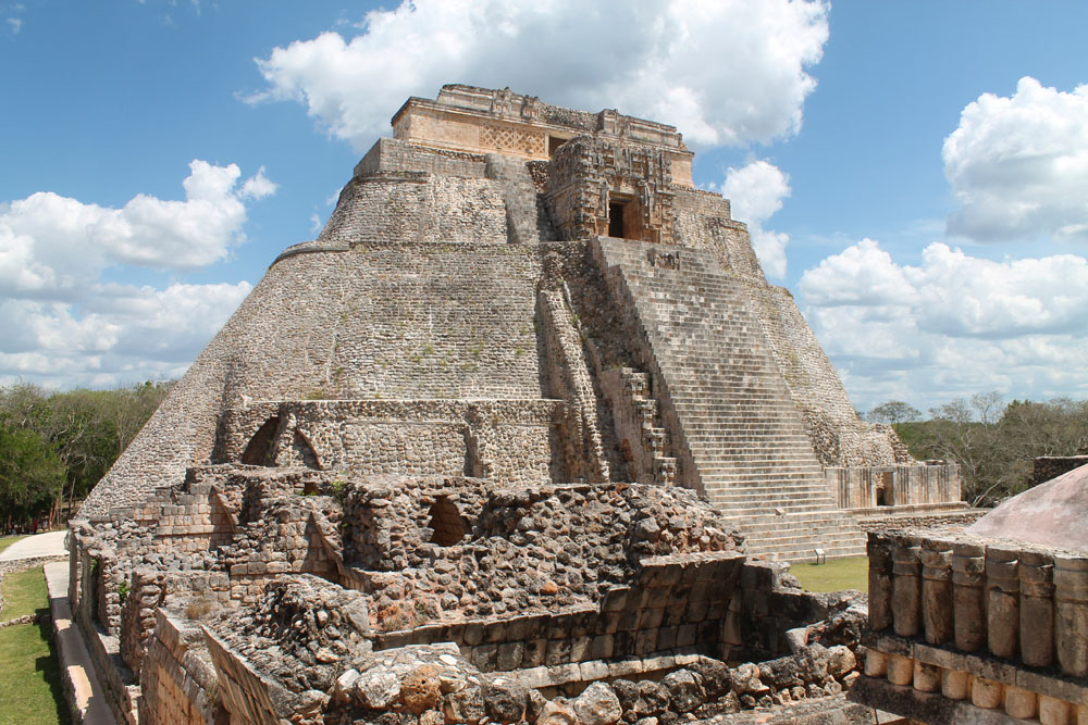 Pyramid of the Magician in Uxmal - Best Ancient Ruins and Pyramids in Mexico