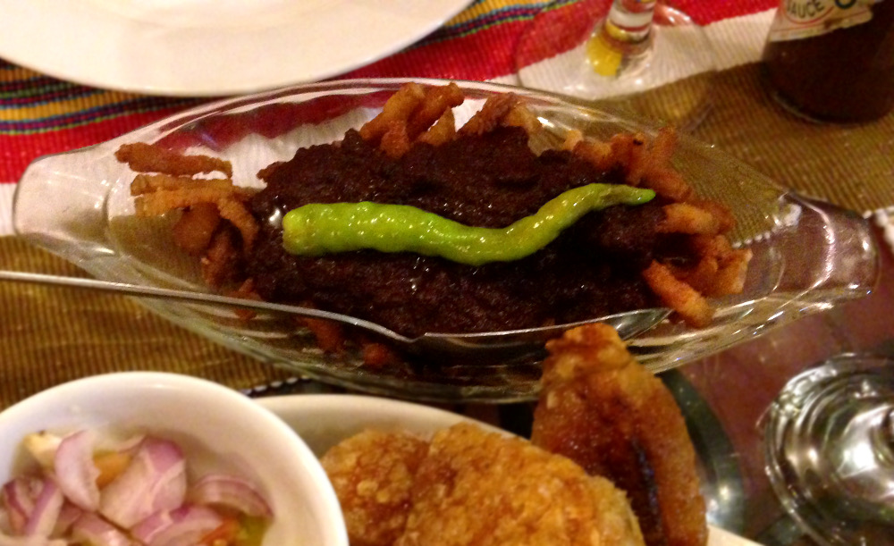 Dinuguan with Bagnet - Lunch - Must Try Filipino Foods - How to Eat Like a Local in the Philippines