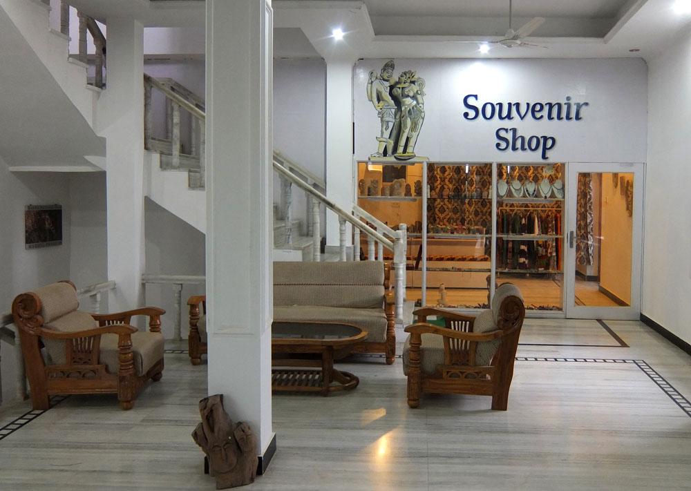 Souvenir Shop at Hotel Isabel Palace in Khajuraho, India