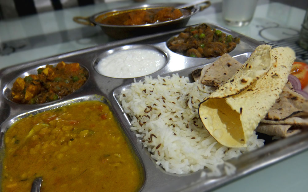 Special Thali for Dinner at Hotel Isabel Palace in Khajuraho